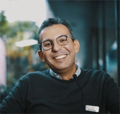 ahmed smiling